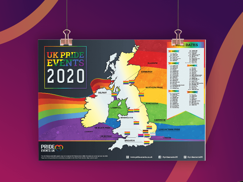UK Gay Pride Calendar
